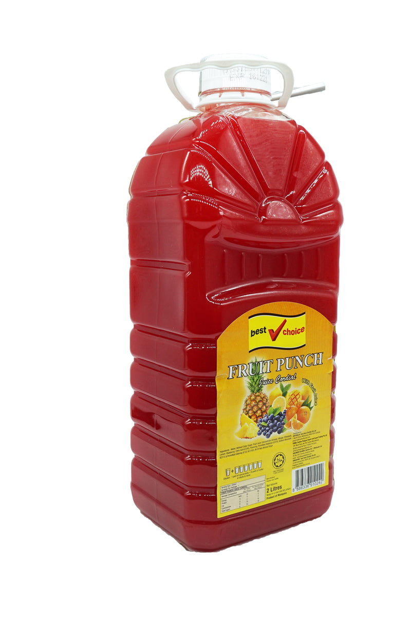 Best Choice Cordial (Btls) 6 x 2L Fruit Punch