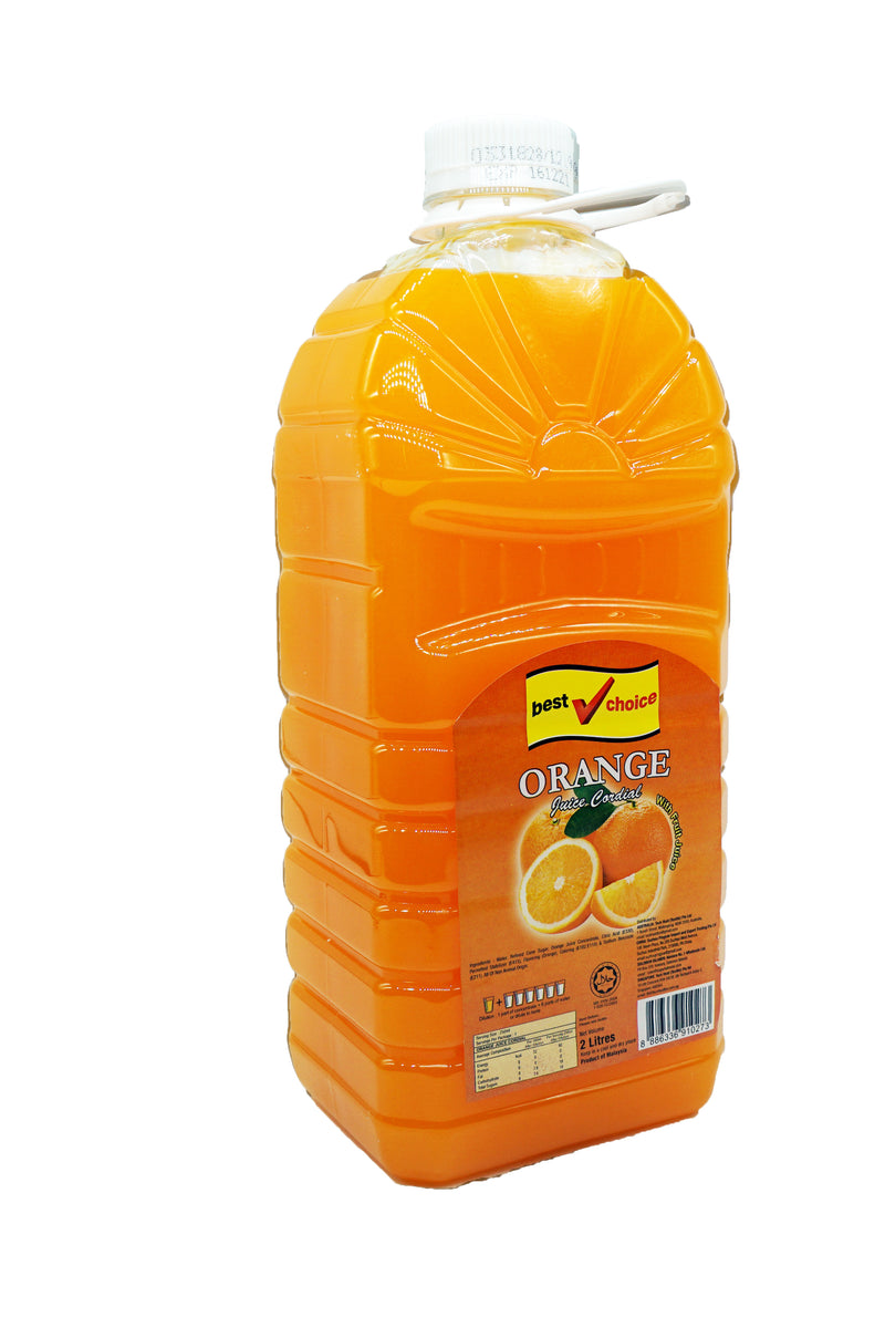 Best Choice Cordial (Btls) 6 x 2L Orange
