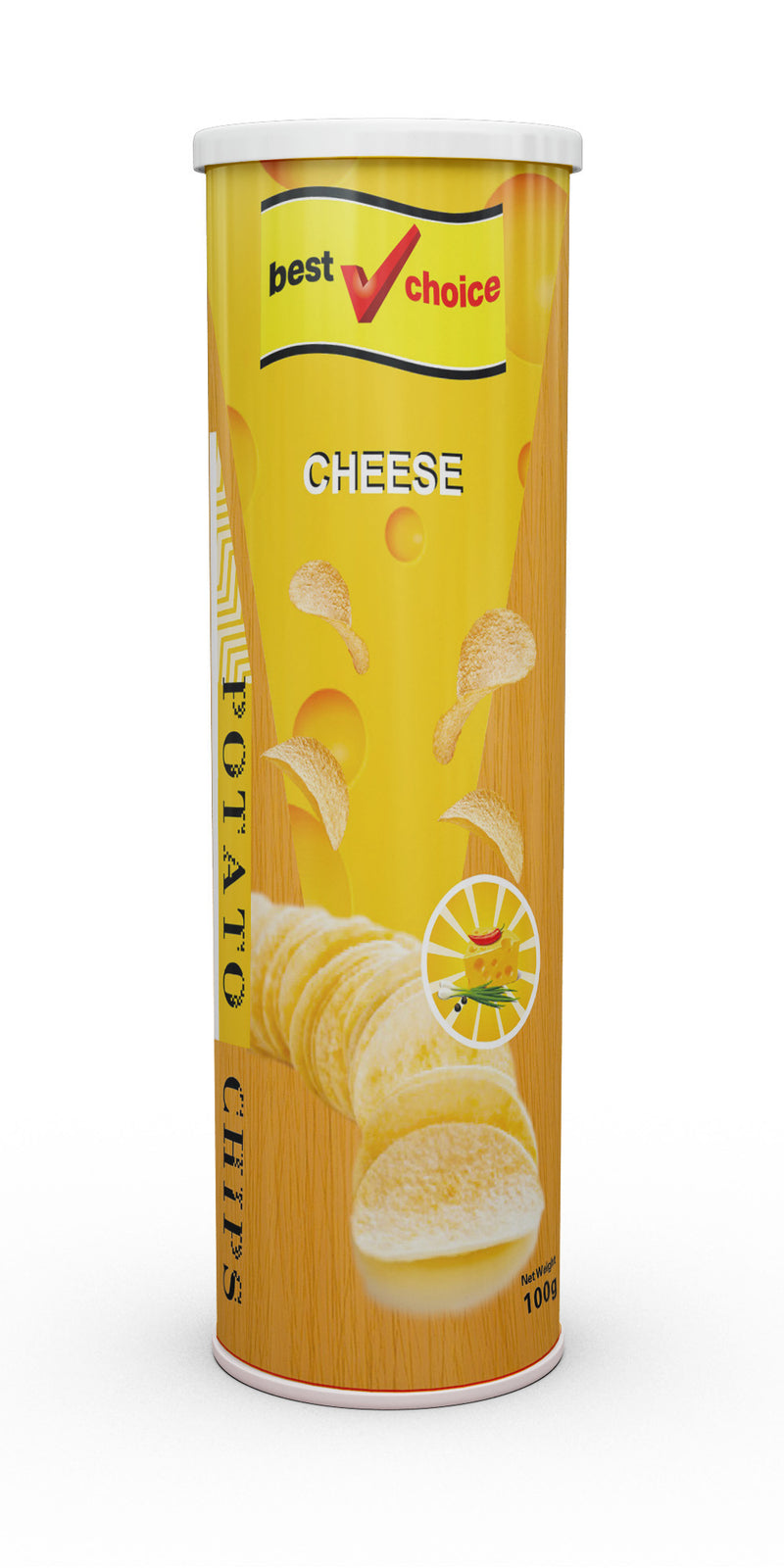 Best Choice Potato Chips 24 x 100g Cheese Flavour