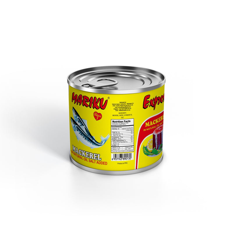 Mackerel Canned in Natural Oil & Salt 50 x 155g