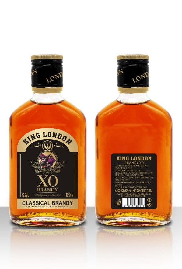 King London Brandy 24 x 175ml Alc vol.40%