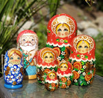 hand painted Russian nesting doll matryoshka traditional