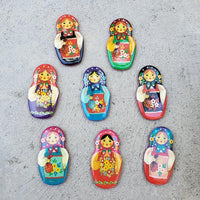 Set of 3 Nesting Doll Matryoshka Magnets in Assortment