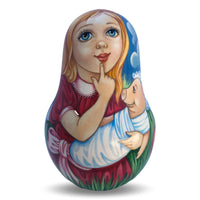 Alice in Wonderland Russian Doll Roly Poly Signed