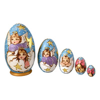 Christmas angel nesting dolls