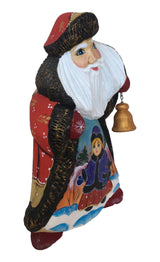 Russian wooden santa with bell