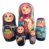 Authentic Russian nesting dolls family