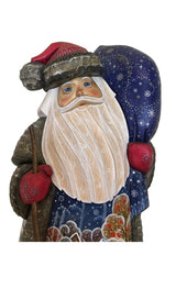 Russian carved wooden figure Santa