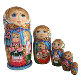 Russian nesting dolls blue eyes