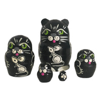 Black cat nesting doll