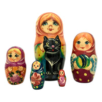 Black cat Russian dolls