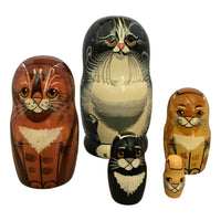 Black orange cat Russian dolls