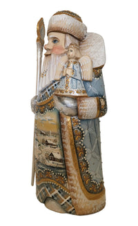 Russian traditional Father Frost with angel