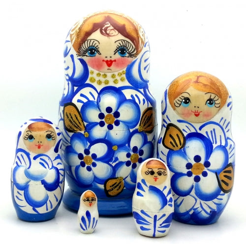 buyrussiangifts-store - Blue with Gold Crown Doll Set 5