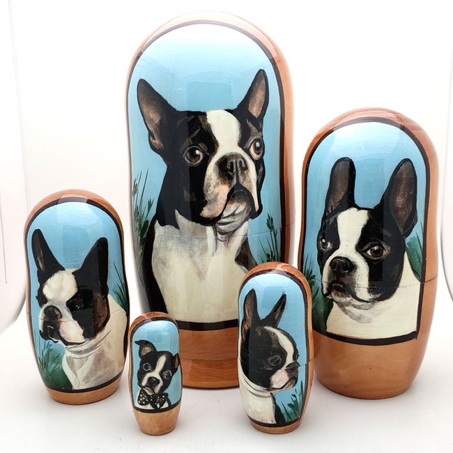 Boston Terrier Dog Breed Nesting Doll 7