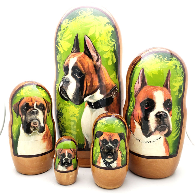 buyrussiangifts-store - Boxer Nesting Doll Set 7