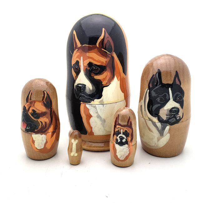 Boxer Short Hair Breed Nesting Dog Set 4
