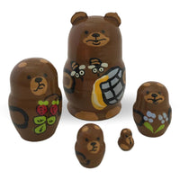 Bear and bee nesting dolls from Russia