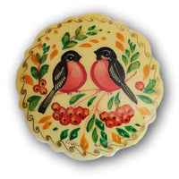 Beautiful hand painted brooch pin