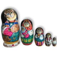 Cats kittens nesting dolls