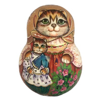 Cat with kitty Russian doll