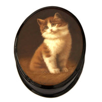 buyrussiangifts-store - Cat hand painted box - BuyRussianGifts Store - Lacquer Boxes