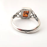 925 silver honey amber ring