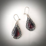 Cherry amber sterling silver antique earrings