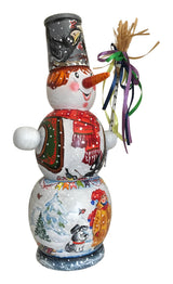 Snowman Russian doll box