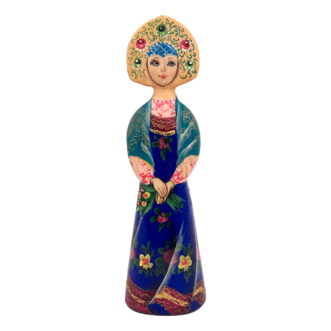 Russian Doll with Flowers Christmas Ornament