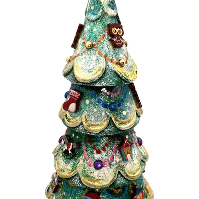 Christmas ornaments tree nesting dolls