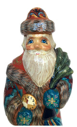 Russian Saint Nicholas wooden figure