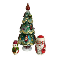 Christmas tree nesting dolls