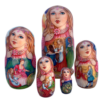 Russian matryoshka fairytale storyteller