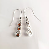 Cognac Amber in Sterling Silver Light Earrings