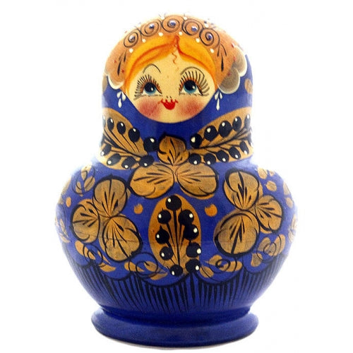Dark Blue 10 Piece Matryoshka Doll Set