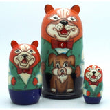 buyrussiangifts-store - Dog Nesting Doll Set - BuyRussianGifts Store - Nesting doll