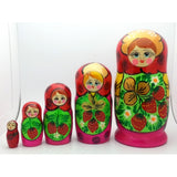 Semenovo Red Matryoshka Doll Set