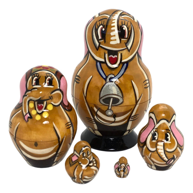 Elephant matryoshka from russia