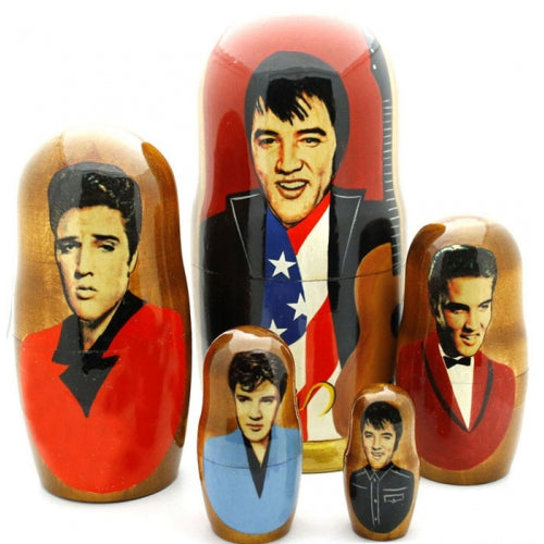 buyrussiangifts-store - Elvis Presley Nesting Doll Set 7