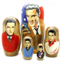 "buyrussiangifts-store - Elvis with Microphone Nesting Set 7"" Tall - BuyRussianGifts Store - Nesting doll"