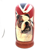 "English Bulldog Nesting Doll Set 7"" Tall"