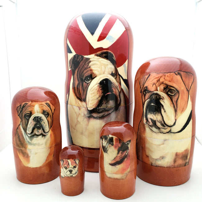 English Bulldog Nesting Doll Set 7