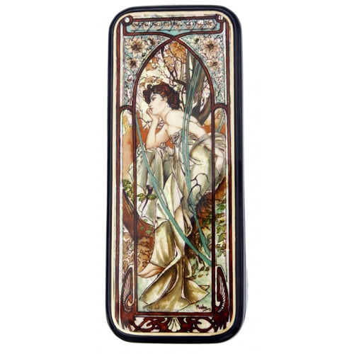 Lacquer Box Evening Contemplation Inspired by Mucha