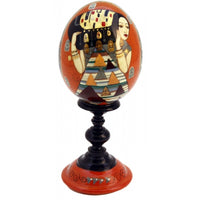 buyrussiangifts-store - Expectation Wooden Egg on Stand - BuyRussianGifts Store - Souvenirs