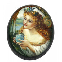 buyrussiangifts-store - Fairy with Bag Lacquer box - BuyRussianGifts Store - Lacquer Boxes
