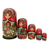 Fairytale Russian stacking dolls