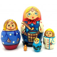 buyrussiangifts-store - Family Small Nesting Doll Set - BuyRussianGifts Store - Nesting doll