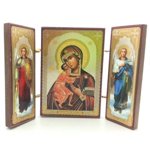 buyrussiangifts-store - Feodorovskaya Icon-Triptych of the Mother of God - BuyRussianGifts Store - Souvenirs