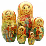 buyrussiangifts-store - Firebird and Princess Vasilisa Nesting Doll Set - BuyRussianGifts Store - Nesting doll